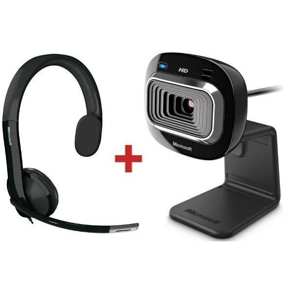 Auricular USB LX-4000 + webcam Lifecam HD3000