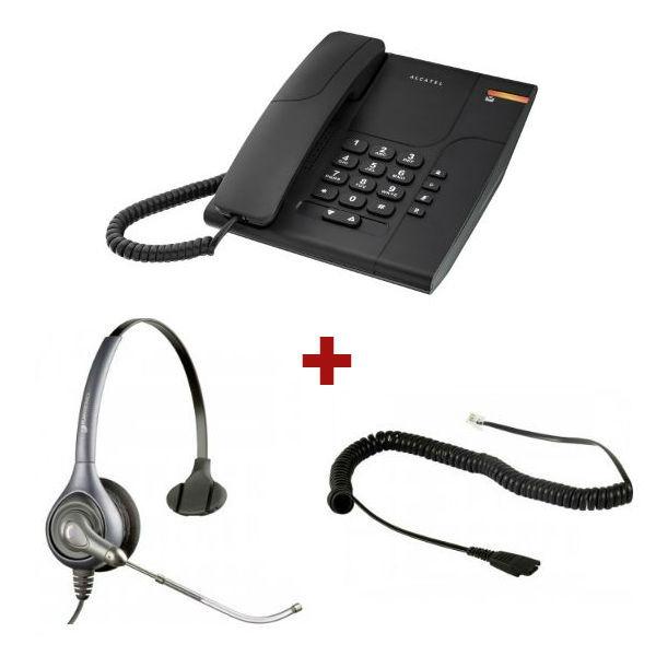 Alcatel Temporis 380 + auricular Supra Plus HW251 Mono Tubo (con cable de conexión)