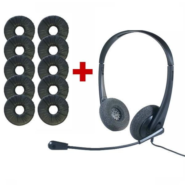 Auricular OD HC 35 USB + 10 almohadillas símil cuero