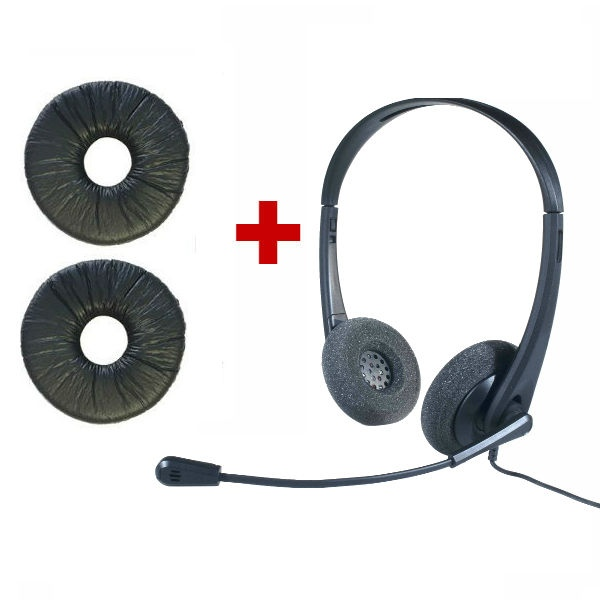 Auricular OD HC 35 USB + 2 almohadillas de símil cuero