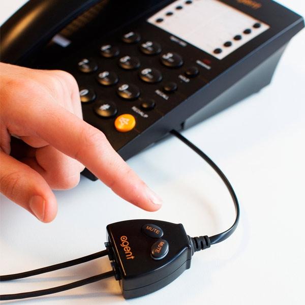Interruptor Agent Buddy con dos botones para silenciar