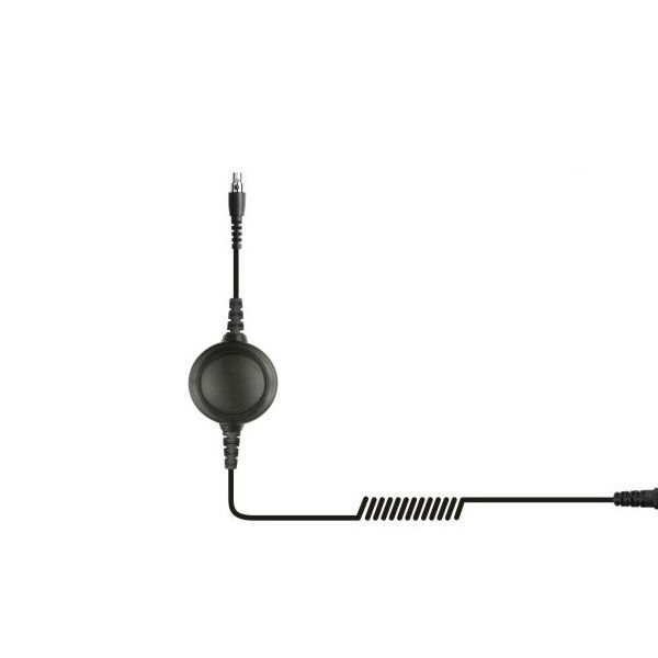 Cable QD con PTT para Kenwood 2 pins