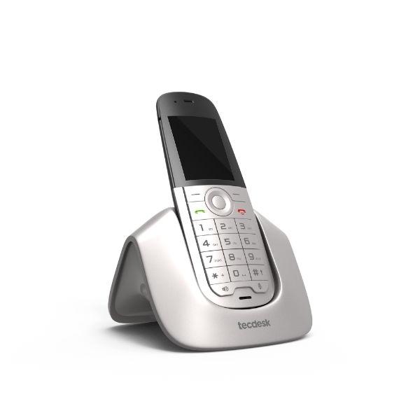 Teléfono DECT con tarjeta SIM y base de carga