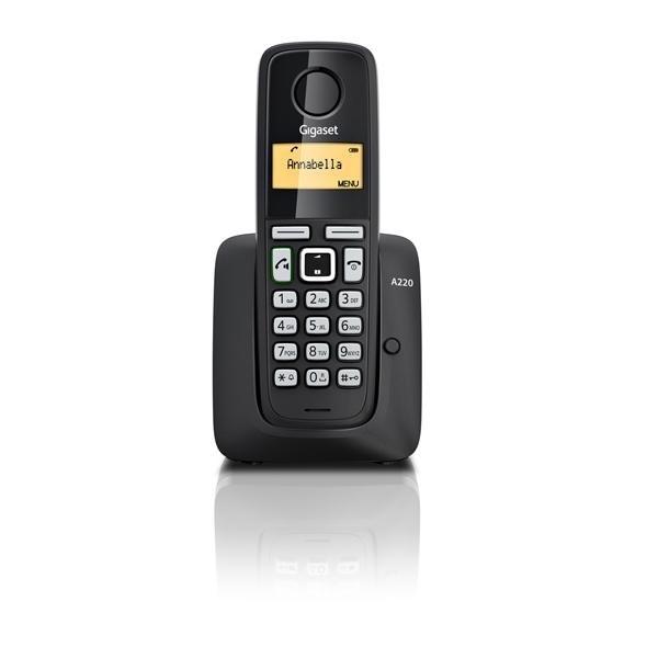Pack de Gigaset A220 con 2 teléfonos supletorios