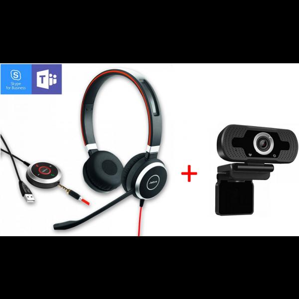 Jabra Evolve 40 Estéreo + Webcam