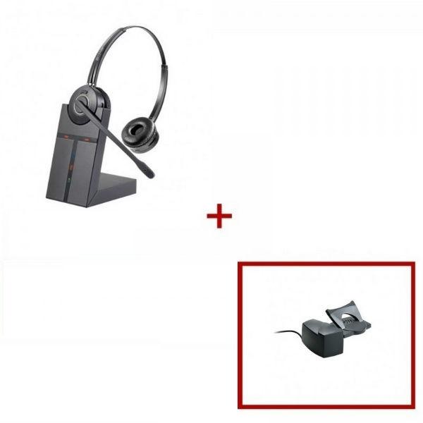 Pack de auricular Cleyver HW25 + descolgador mecánico