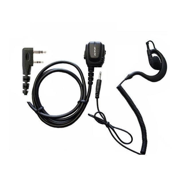 Micro-auricular ergonómico Kenwood 2 pins + Auricular gancho