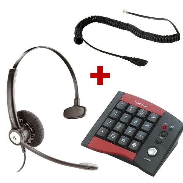 Marcador DA-207 con auricular Plantronics Entera Mono