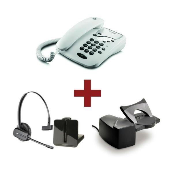 Motorola CT1 Blanco + Auricular Plantronics CS540 + Descolgador