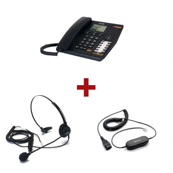Alcatel Temporis 880 + Auricular Jabra  Mono + Cable de conexión