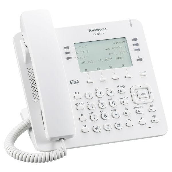 Teléfono IP blanco