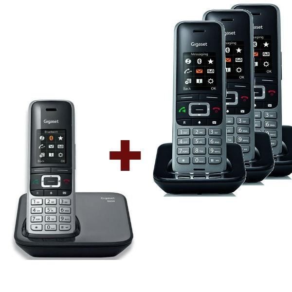 Teléfono Gigaset S850 + 3 Supletorios S650H