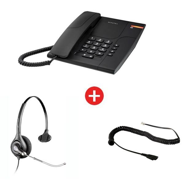 Alcatel Temporis 180 + auricular Supra Plus HW251 Mono Tubo Vocal (con cable de conexión)