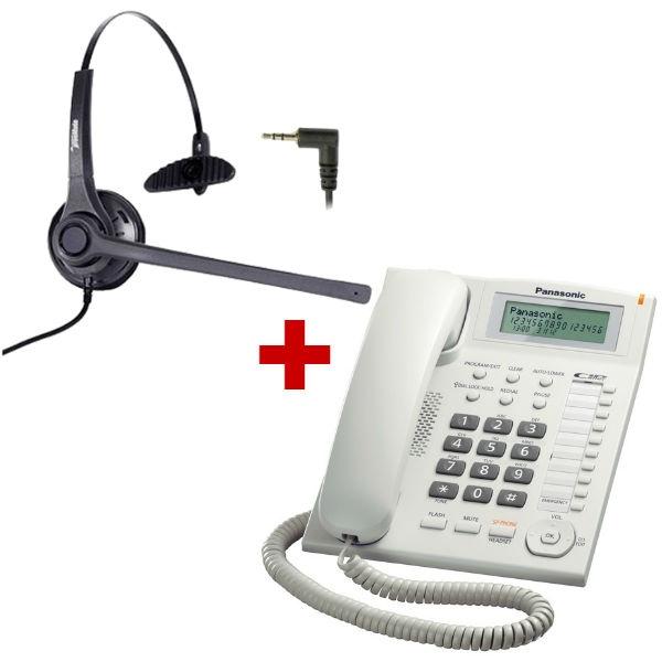 Panasonic KX-TS880 blanco + auricular Freemate DH-037C