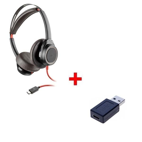 Pack: Plantronics Blackwire 7225 USB-C + Adaptador