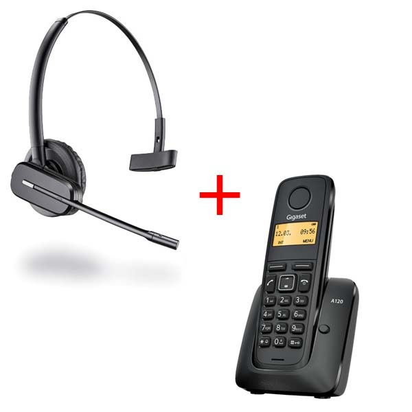 Auricular inalámbrico C565 + teléfono dect Gigaset A120