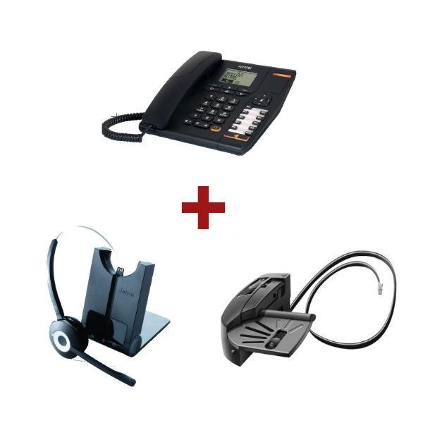 Alcatel Temporis 880 + Auricular Jabra Pro 920 + Descolgador