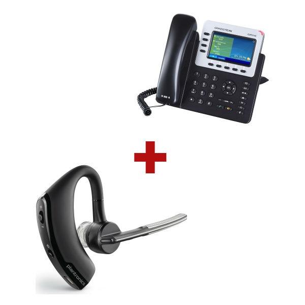 Grandstream GXP2140 + aur. Bluetooth Plantronics Voyager LEGEND