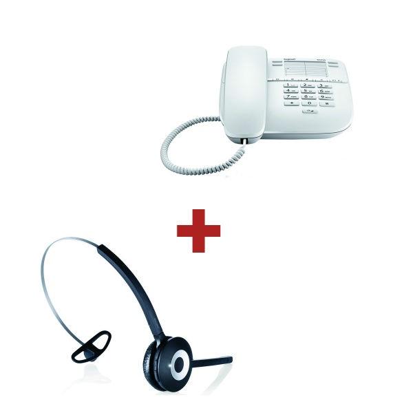 Euroset DA410 Blanco + auricular inalámbrico Jabra PRO 920
