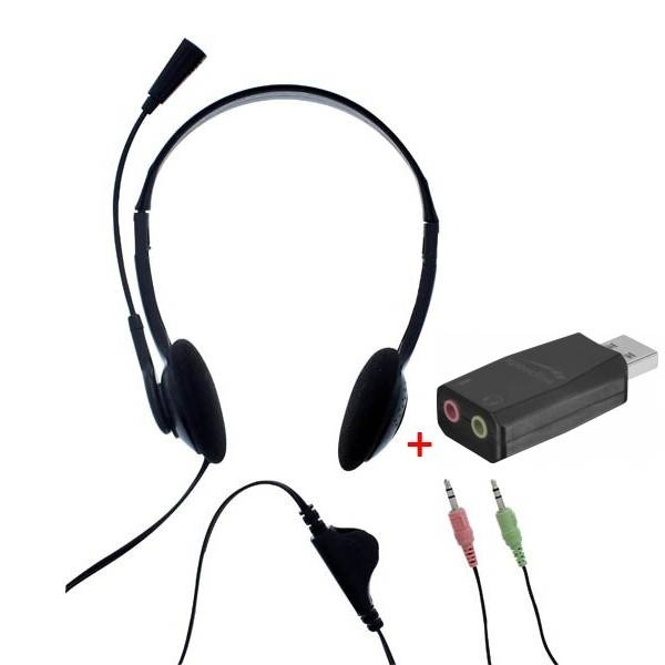T'nB First Auricular Doble Jack con adaptador USB