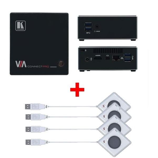 Kramer VIA Connect Pro + 4 Botones USB Kramer VIA Pad