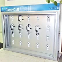 Armario de higienización para auriculares