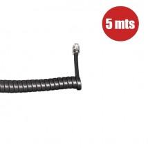 Cordón de auricular (5 metros) - Negro