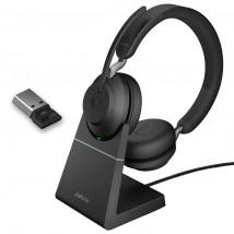 Jabra Evolve2 65 USB-A UC Dúo con base de carga