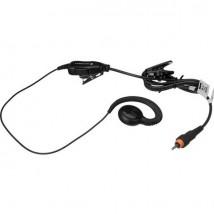 Micro-auricular con PTT con clip de sujeción