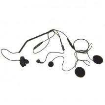 Micrófono-auricular para casco cerrado compatible con Motorola 2 pins