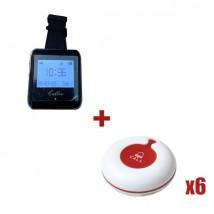 Reloj avisador para personal TB-920 + 6 pulsadores de mesa