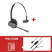 Pack Plantronics CS540 para teléfonos Polycom SoundPoint IP