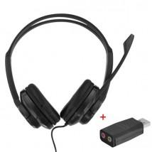 T'nB HS-200 Auricular Multimedia con adaptador USB