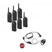 Pack de 6 Motorola XT420 + 6 Kits manos libres