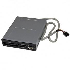 Lettore per schede di memoria multimediali Cables USB 2.0 22 in 1 alloggiamento frontale 3,5'' - colore nero