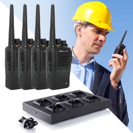 Pack 4 Walkies-Talkies Midland G15 + Cargador multiple C1251