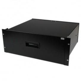 Cassetto archiviazione in acciaio 4U colore nero per rack 19'' e armadi