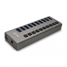 i-tec U3CHARGEHUB10 cargador de dispositivo móvil Interior Gris