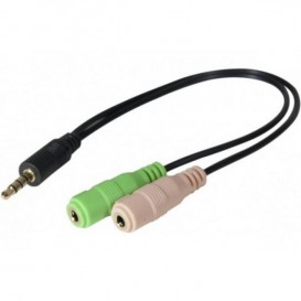 Adaptador Jack 3.5 mm para auriculares PC