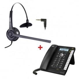 Alcatel Temporis IP301G + Auricular Freemate DH037 + fuente alimentación externa