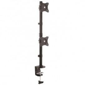 Base de Soporte Vertical VESA Ajustable para Dos Monitores de hasta 27 Pulgadas