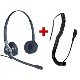 Auricular OD HC 45 + Cable QD - RJ