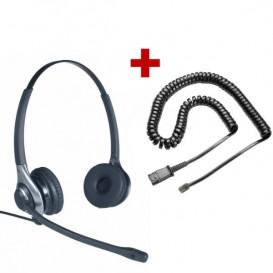 Auricular OD HC 45 + Cable QD U10-SE para Ascom Office