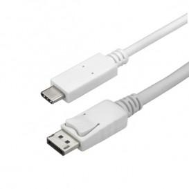Cable Adaptador de 1m USB-C a DisplayPort 4K 60Hz - Blanco - Cable USB Tipo C a DP - Cable de Vídeo USBC