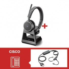 Auriculares Plantronics Voyager 4220 Office MS USB-C con descolgador electrónico para Cisco