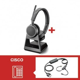 Auriculares Plantronics Voyager 4220 Office con descolgador electrónico para Cisco