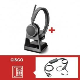 Auricular Plantronics Voyager 4220 Office USB-A con descolgador electrónico para Cisco