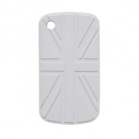 Funda Blackberry BANDERA UK Blanca