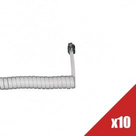 Lote de 10 cordones de auricular - Blanco