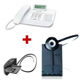 Oferta Gigaset DA710 Blanco + auricular inalámbrico Jabra PRO 920 con descolgador